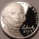 United States Gem Proof 2007-S Jefferson Nickel~Proofs Are Best~Free Shipping