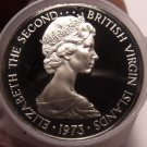 Roll (20 Coins) Large Proof British Virgin Islands 1973 25 Cents~Cuckoo~Free/Shi