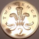 Cameo Proof Great Britain 1985 2-Pence~Welsh Plume~Fantastic~Free Shipping