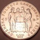 Gem Unc Silver Sweden 1959 5 Kronor~Constitution Commemorative~Free Shipping