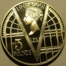 Cameo Proof Great Britain 2001 5 Pounds~Queen Victoria~The Crystal Palace~Fr/Shi