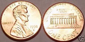 1998-D GEM BU LINCOLN CENT VERY NICE GREAT PRICE~FR/SHI