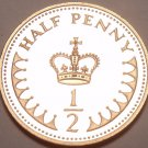 Gem Cameo Proof Great Britain 1983 Half Penny~108,000 Minted~Free Shipping