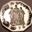 Massive Rare Proof Malta 1976 50 Cents~The Great Seige Monument~26k Minted~Fr/Sh
