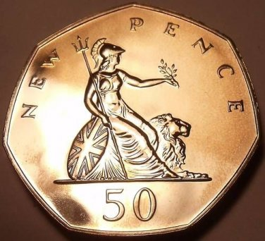 Scarce Huge Cameo Proof Great Britain 1986 50 Pence~See Our Proof Coins~Free Shi