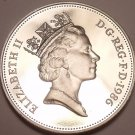 Scarce Cameo Proof Great Britain 1986 5- New Pence~Proofs Are Best Coins~Free Sh