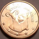 Gem Uncirculated Cyprus 2008 2 Euro Cents~Double Ram~Free Shipping