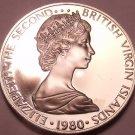 Rare Proof British Virgin Islands 1980 5 Cents~Zenaida Doves~3,421 Minted~Fr/Shi