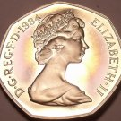 Huge Cameo Proof Great Britain 1984 50 Pence~Only 107,000 Minted~Free Shipping