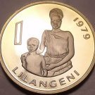 Huge Rare Proof Swaziland 1979 Lilangeni~Only 10,000 Ever Made~Free Shipping