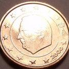 GEM UNC 2000 BELGUIM 2 EURO CENTS SUPER DESIGN FREE SHI