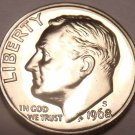 SUPER PROOF 1968-S PROOF CAMEO ROOSEVELT DIME~FREE SHIP