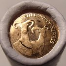 BU ORIGINAL ROLL (50) OF CYPRUS 2009 ONE EURO CENTS~DOUBLE RAM~FREE SHIPPING~