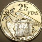 Large Unc Spain 1957(70) 25 Pesetas~Edge Incription~Una Grande Libre~Free Ship*