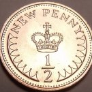 Scarce Proof Great Britain 1974 Half Penny~100,000 Minted~Free Shipping