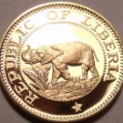 Rare Proof Liberia 1970 Cent~Elephant Coin~3,464 Minted~Free Shipping