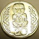 Gem Unc New Zealand 2006 20 Cents~Pukaki~The Gods~Free Shipping