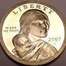 United States 2007-S Sacagawea Cameo Proof Dollar~Free Shipping
