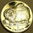 CHOICE GEM UNC ISLE OF MAN 1997 CROWN~LONG HAIRED SMOKE CAT~FREE SHIPPING~
