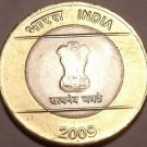 Large Unc India Bi-Metal 2009 10 Rupees~Ashoka Column~We Have Unc India Coins~FS