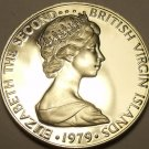 Rare Proof British Virgin Islands 1979 25 Cents~Mangrove Cuckoo~5,304 Minted~F/S