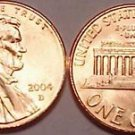 2004-D GEM UNCIRCULATED LINCOLN CENT~FREE SHIPPING~