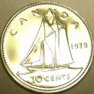 PROOF CANADA 1978 10 CENTS~START A PROOF COLLECTION~FREE SHIPPING~