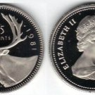 PROOF CANADA 1981 25 CENTS~CAMEO WHITE~FREE SHIPPING~