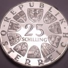 Huge Proof Austria 1969 25 Schilling~Only 44k Minted~Peter Rosegger~Free Ship