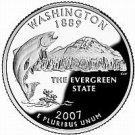 2007-P WASHINGTON BRILLIANT GEM UNC STATE QUARTER~FREE SHIPPING~SEE R COINS~