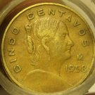 CIRCULATED ROLL(40) MEXICO FIVE CENTAVOS~ALL DATES IN THE 1950'S~FREE SHIPPING~