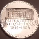 Rare Silver Proof Austria 1966 50 Schillings~National Bank~17,400 Minted~Free Sh