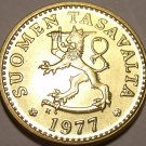 Gem Unc Finland 1977-K 10 Pennia~Awesome Lion~Free Shipping~
