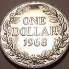 Massive Proof Liberia 1968 Dollar~14,396 Minted~1st Year Ever Minted~Free Ship