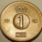 Sweden Gem Uncirculated 1965-U Ore~Bronze~Ruler Gustaf VI~Free Shipping