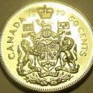 PROOF CANADA 1970 50 CENTS~WE HAVE PROOFS~FREE SHIPPING~
