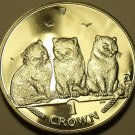 CHOICE GEM UNC ISLE OF MAN 2006 CROWN~EXOTIC SHORT HAIR CATS~EXCELLENT~FREE SHIP