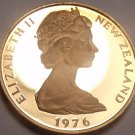 Rare Cameo Proof New Zealand 1976 2 Cents~Only 11k Minted~Free Shipping