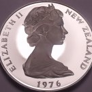 Rare Cameo Proof New Zealand 1976 10 Cents~Only 11k Minted~Excellent~Free Ship