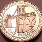 Rare Proof Great Britain 2005 Pound~Only 50,000 Minted~The Menai Bridge~Free Shi