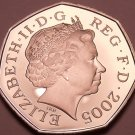 Rare Proof Great Britain 2005 50 Pence~Only 50,000 Minted~Awesome~Free Shipping