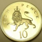 Gem Cameo Proof Great Britain 1997 10 Pence~Excellent Coin~Crowned Lion~Free Shi