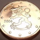 AWESOME FINLAND 2006 5-EURO CENTS~STANDING LION~FREE SH