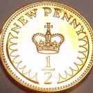 Proof Great Britain 1971 Half Penny~1st Year Ever Minted~Free Shipping