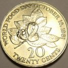 HUGE JAMAICA UNC 1985 WORLD FOOD DAY 20 CENTS~FREE SHIP