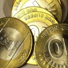 ROLL(20 COINS) OF LARGE AU/UNC INDIA 2009 BI-METAL 10 RUPEES~FREE SHIPPING~