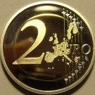 Cameo Proof Germany 2005-G 2  Euros~Karlsruhe Mint~Excellent~Bi-Metal~Free Ship~