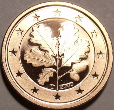 Cameo Proof Germany 2003-D One Euro Cent~Munich Mint~Free Shipping~