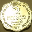 Gem Cameo Proof Ceylon 1971 2 Cents~Only 20,000 Minted~Proofs Are Best Coins~F/S