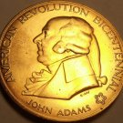 Massive 1974 Gem Unc A-R-B Medallion~John Adams~First Continental Congress~Fr/Sh